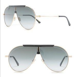 Jimmy Choo   Silver Mirror Eddy Sunglasses   New